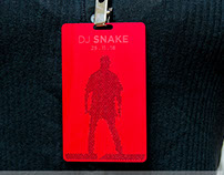 Red Anodized Aluminum VIP Pass for DJ Snake