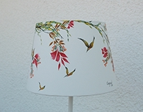 Asian painting - Table-lamp nr.15 - 250 Euro