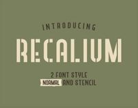 RECALIUM STENCIL