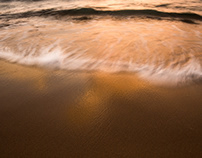 Orange.  Waves.  Nature Abstract Photography