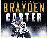 Ice hockey sports photography template