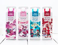 Seasonal packaging for Norwegian Dairy brand Tine