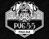 Identidad Cerveza Pug 55 y Cerveceria Sam-Jose