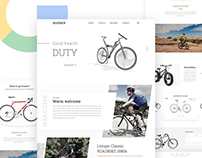 Cycle Minimal Landing page concept