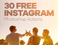 Free Instagram Photoshop Actions
