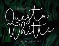 Questa Whitte Script Font