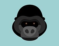 Gorilla - Flat 3D