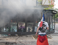 May day protest in Paris 2018