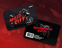 "Plastic card design for ""Moto-sity"""
