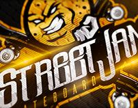 Brand and Mascot   StreetJan Skateboard