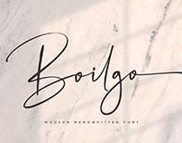 FREE | Boilgo Modern Handwritten Font