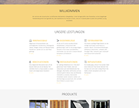 Strona internetowa dla szwajcarskiej firmy stolarskiej