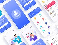 Healthcare Medical Mobile App UI Template