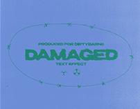 Damaged Text Template