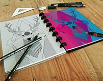 // Stag // Colouring Book Design //
