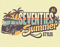 Seventies Summer Typography Styles