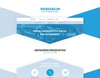 Autodiely - web dizajn