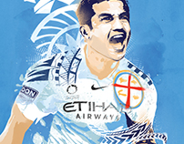 Melbourne City football club billboard advertisements