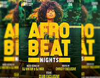Afro Beat Nights Flyer - Club A5 Template