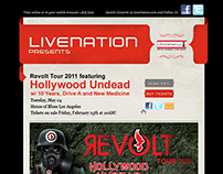 Livenation Web Design Concept