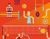 Création dépliant sports