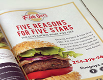 Five Guys Rebrand Magazine Ad