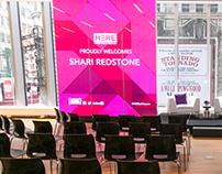 Viacom Shari Redstone Event Digital Displays and Poster