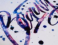 Watercolor callygrahy