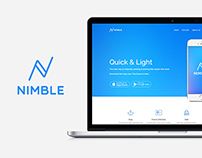 Nimble: App Landing Onepage Template For WordPress