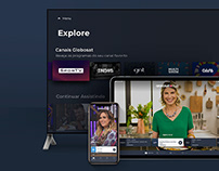 Globosat Play - Redesign Smart TV Apps iOS and Android