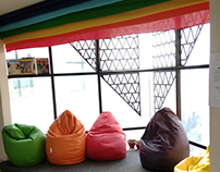 Cozy Corner - College Installation - Seating space