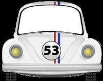 Volkswagen Escarabajo Herbie Vectorizado