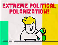 Extreme political polarization!