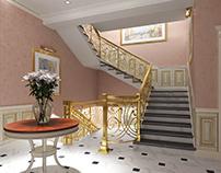 Interior design for second floor of private villa