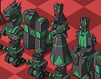 Kaspersky Lab souvenir chess set concept