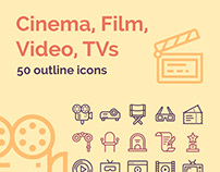 Icon Pack: Cinema, Film, Video, TVs