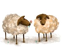 Nueve ovejitas de azúcar