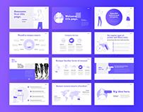 Purple Animated Line Illustration Presentation Template