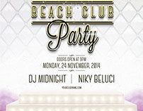FREE PSD - VIP Beach Club Flyer Template