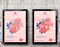 Affiche - Vente de roses annuelle (ÉTS)