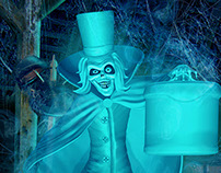 Hatbox Ghost in Environment
