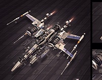 Episode VII X-Wing exploded cross section