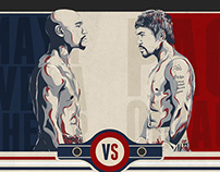 FIGHT OF THE CENTURY INFOGRAPHIC MAYWEATHER VS PACQUIAO