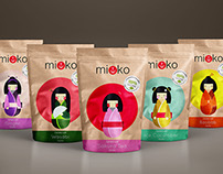 Kokeshi doll -  candies package design