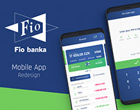 Fio banka - Mobile App Redesign