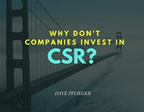 David Pflieger | Why Don't Companies Invest In CSR?