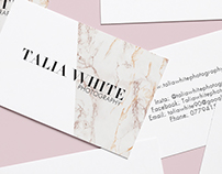 Talia White Photography | Branding & Identity