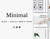 Minimal Blog & Social Pack