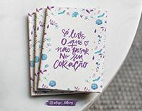 Lettering - Só leve o que não pesar no seu coração.