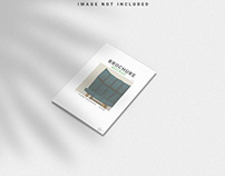 Free Brochure Mockup With Shadow Overlay